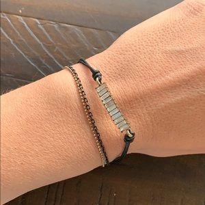 Chloe + Isabel Leather + Baguette Bracelet